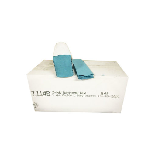 Hand towels Z fold 1 ply Blue