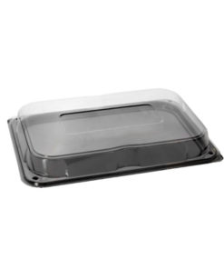 Small Rectangular Black Buffet Tray