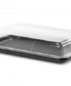 DS9C - Mini Rectangular Black Buffet Tray & Lid Combo