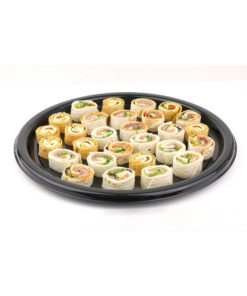 DSR12 - Round Black Buffet Tray