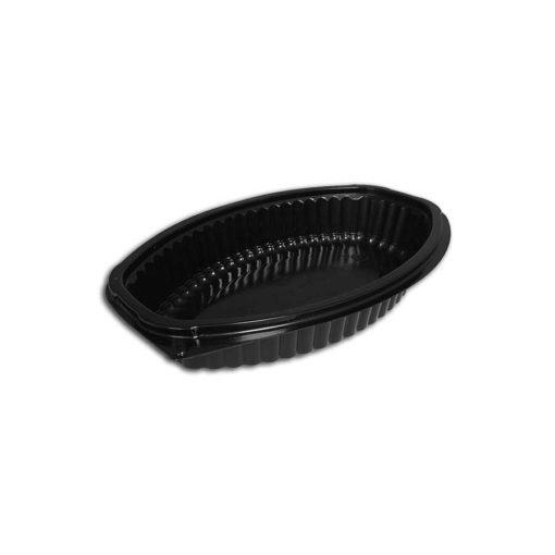 Microwave Black Oval 16oz