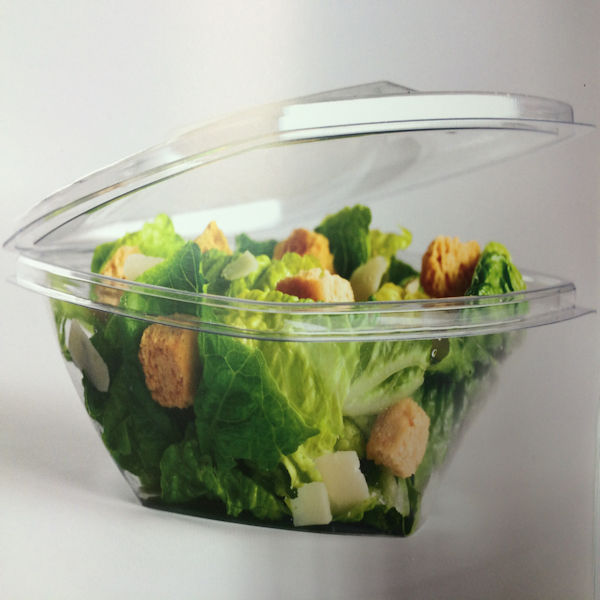 V375cc round salad container with salad
