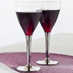 Plastic Wine Glass Silver Stem