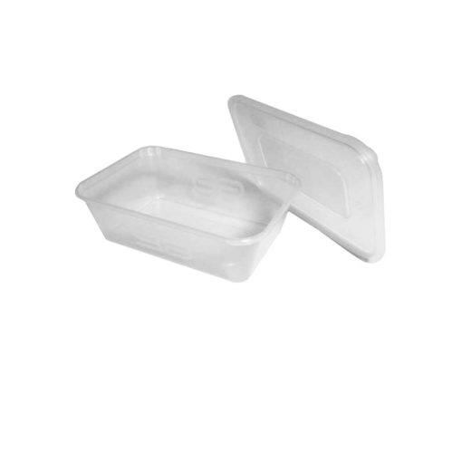 Microwave container clear rectangle