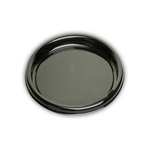 "DSR12 - Round Black Buffet Tray - 12"" - Cased 50"
