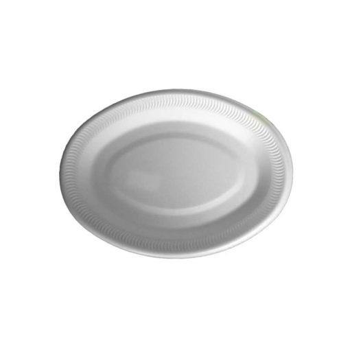 """Polystyrene Dinner Plate 10"""" Oval"""