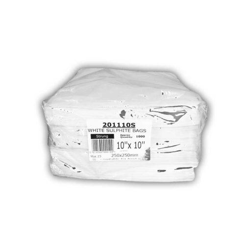 White Sulphite Bags 10 Inch