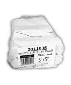 White Sulphite Bags 5 Inch