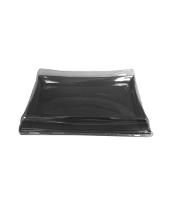 DS3C - Large Black Rectangular Pagoda Tray & Lid Combo