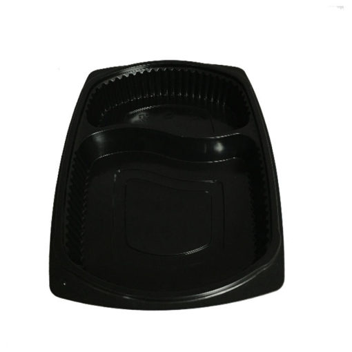 Microwave Container 2 Compartment Black