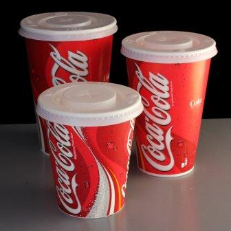 Coke Cups with Straw Slit Lids