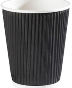 Ripple Paper Cup 12oz Black