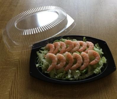 Black oval plate plastic