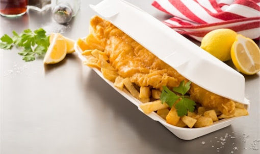Large Fish and Chip Food Box Compostable