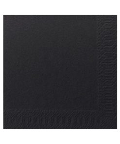 2 Ply Black Cocktail Napkin