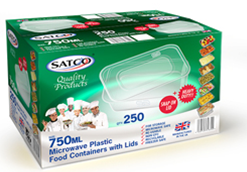Microwave container clear rectangle – C750