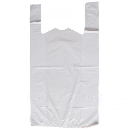 High Density White Carrier Bag - HDVC1319