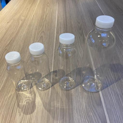 Juice Bottles with Tamper Evident Lids